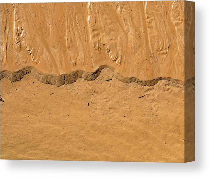 Abstract Canvas Print featuring the photograph Line In The Sand by Cindy Kellogg