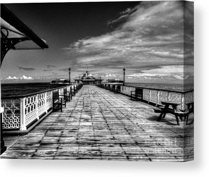 Llandudno Canvas Print featuring the digital art Llandudno Pier by Chris Evans
