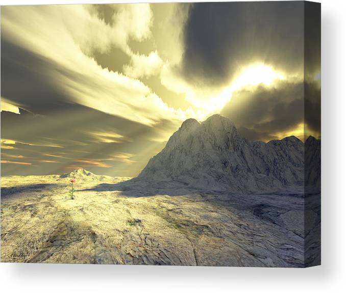 Loved Canvas Print featuring the digital art Loved - Never Forgotten by Jennifer Kathleen Phillips