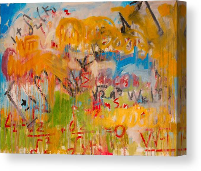 Math Canvas Print featuring the painting Math II by Michael Henderson