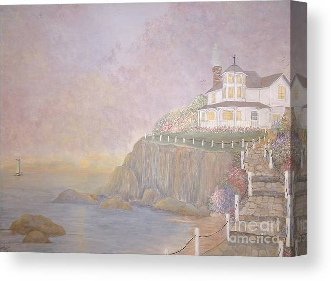 Vacation Home Canvas Print featuring the painting Mid-summer Dream by Patti Lennox