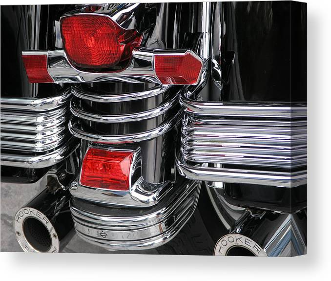 Harley Canvas Print featuring the photograph Midnight Ride by Jim Derks
