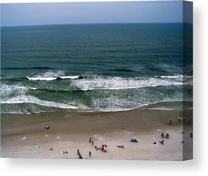 Ocean View Canvas Print featuring the photograph Mighty Ocean Aerial View by Patricia Taylor