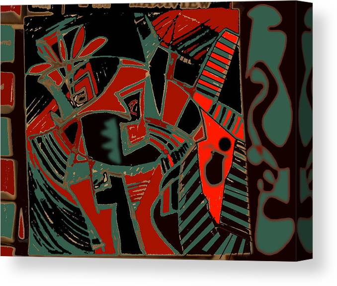 Drawing Canvas Print featuring the digital art Modern Still Life by Therese AbouNader