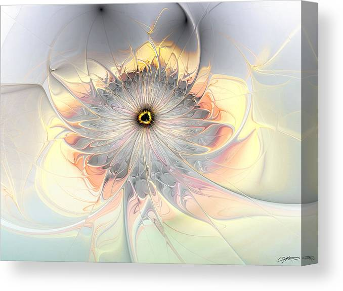 Abstract Canvas Print featuring the digital art Momentary Intimacy by Casey Kotas