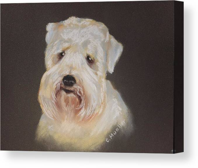 Pet Canvas Print featuring the painting Monique's Bailey by Carol Mueller
