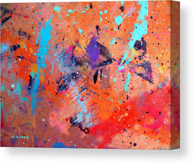 Abstract Canvas Print featuring the painting Moon And Sixpence by Charles Yates