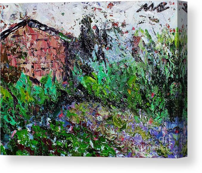 Garden Paintings Canvas Print featuring the painting Mother by Seon-Jeong Kim
