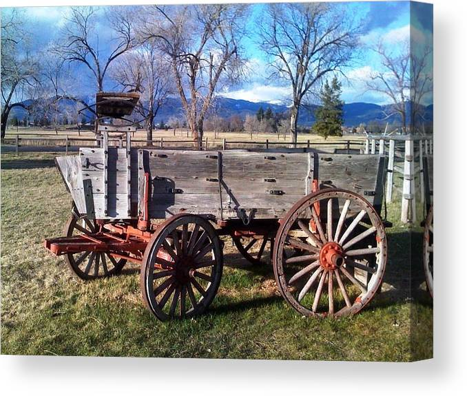 Wagon Canvas Print featuring the photograph Movin by Jerry Browning