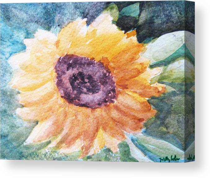 Easter Canvas Print featuring the painting My Heart Is A 'son' Flower by Trilby Cole