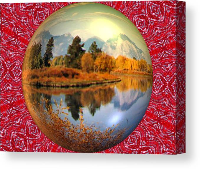 Abstract Digital Art Canvas Print featuring the photograph My World by Guillermo Mason