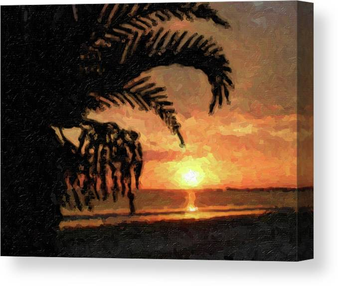 Sunset Canvas Print featuring the photograph Na-65 by Michael Fencik