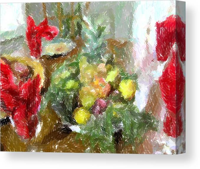 Holiday Canvas Print featuring the photograph Napkin Dance by Michael Morrison