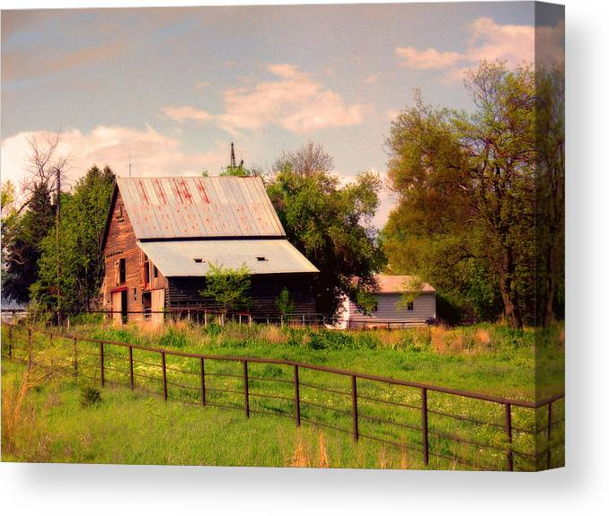 Nebraska Canvas Print featuring the photograph Nebraska In The Summer Afternoon by Tyler Robbins