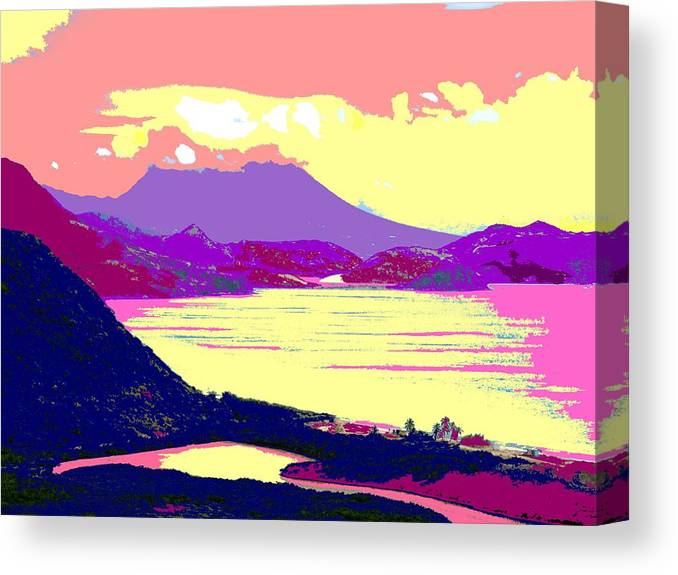 Nevis Canvas Print featuring the photograph Nevis From The Penninsula by Ian MacDonald