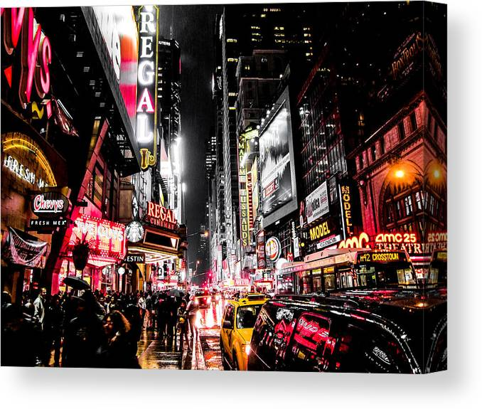 Newyork Canvas Print featuring the photograph New York City Night II by Nicklas Gustafsson