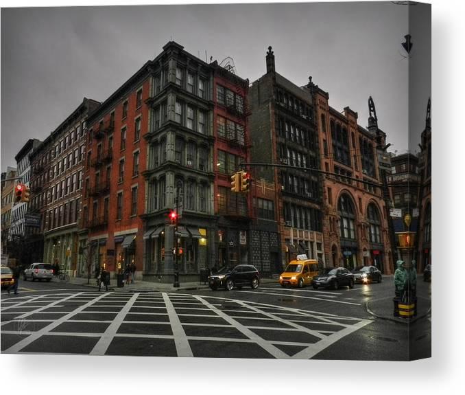 Soho Canvas Print featuring the photograph New York City - Soho 006 by Lance Vaughn