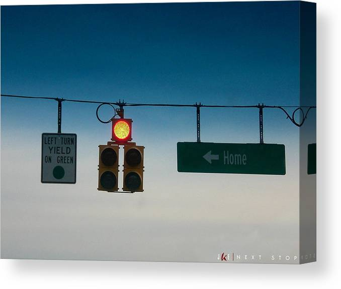 Light Canvas Print featuring the photograph Next Stop by Jonathan Ellis Keys