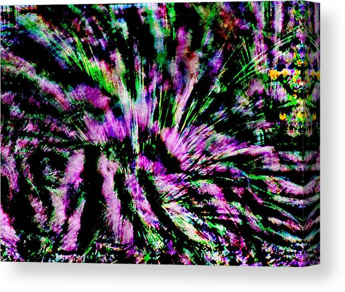 Abstract Canvas Print featuring the photograph Nite Blooms by Florene Welebny