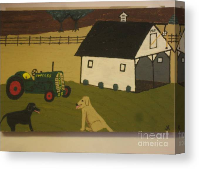 Landscape Canvas Print featuring the painting Nook And Brutus by Jeffrey Koss