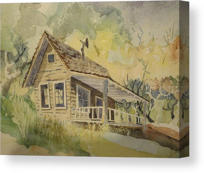 Miner's Shack Canvas Print featuring the painting North Bloomfield by Steven Holder