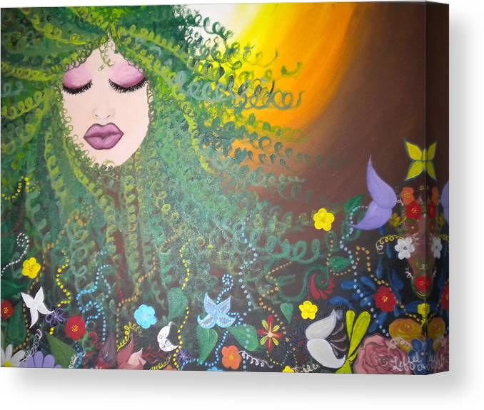 Face Canvas Print featuring the painting Nurture by Hollie Leffel