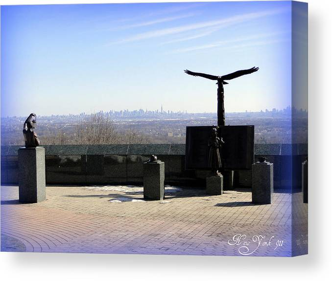 New York 911 World Trade Center Photographs Canvas Print featuring the photograph Nyc 911 Park by Don Kemper