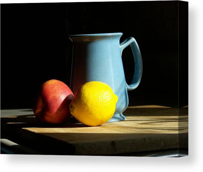 Still Life Canvas Print featuring the photograph On The Table 1- Photograph by Jackie Mueller-Jones