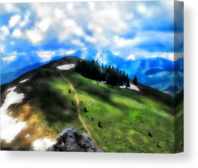 Sunny Canvas Print featuring the photograph On Top Of The World  by Cindy Greenstein
