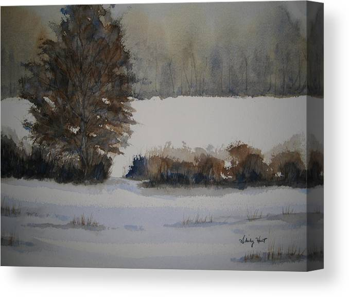 Landscape Canvas Print featuring the painting Overcast by Shirley Braithwaite Hunt