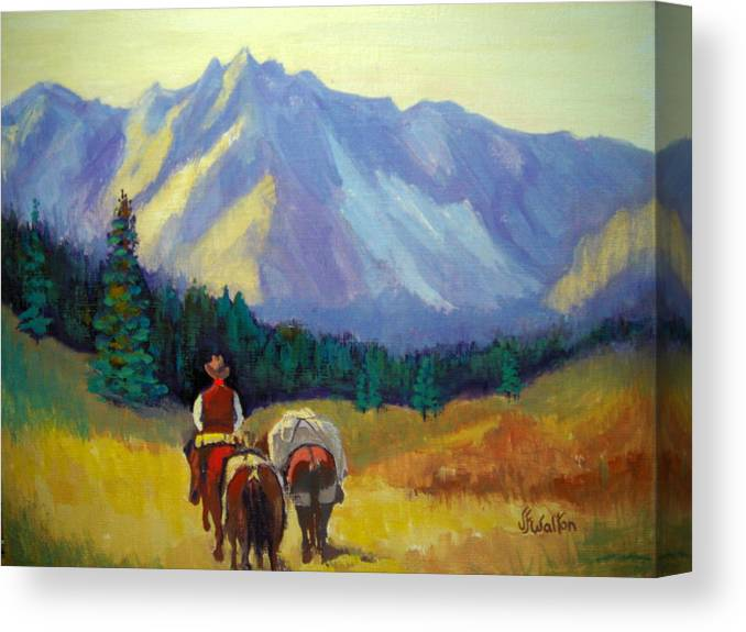 Packing In Canvas Print featuring the painting Packing In by Judy Fischer Walton