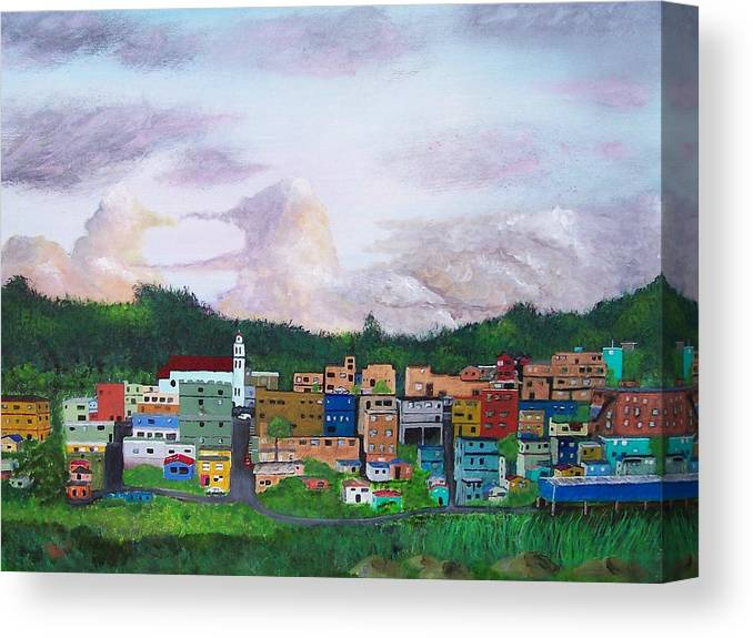 Painting The Town Canvas Print featuring the painting Painting The Town by Tony Rodriguez
