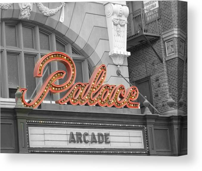 Photo Canvas Print featuring the photograph Palace Theatre by Audrey Venute