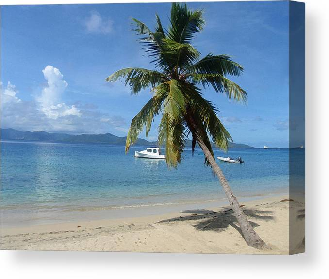 Caribbean Canvas Print featuring the digital art Paradise by Ginger Howland