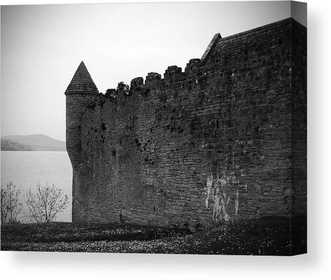 Ireland Canvas Print featuring the photograph Parkes Castle County Leitrim Ireland by Teresa Mucha
