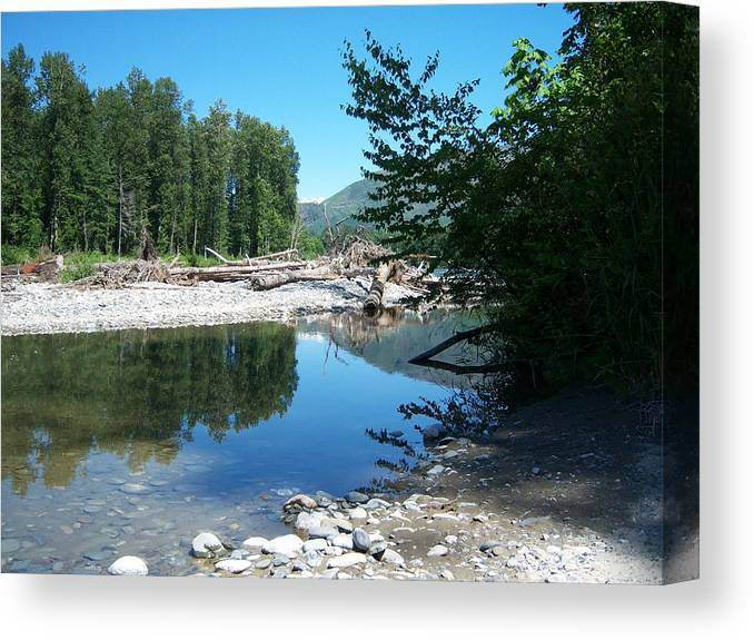 Water Canvas Print featuring the photograph Pass Reflection by Ken Day