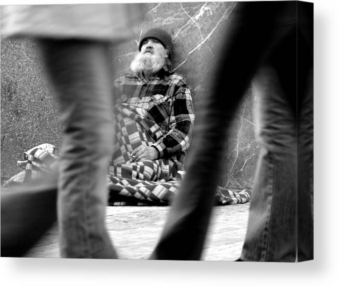 Street Photography Canvas Print featuring the photograph Passersby by Todd Fox