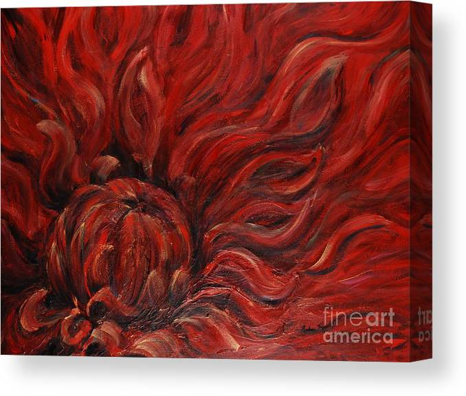 Flower Canvas Print featuring the painting Passion Iv by Nadine Rippelmeyer