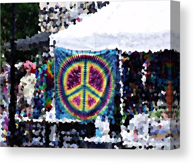 Arts Festival Canvas Print featuring the photograph Peace In The Streets by Steve Cochran