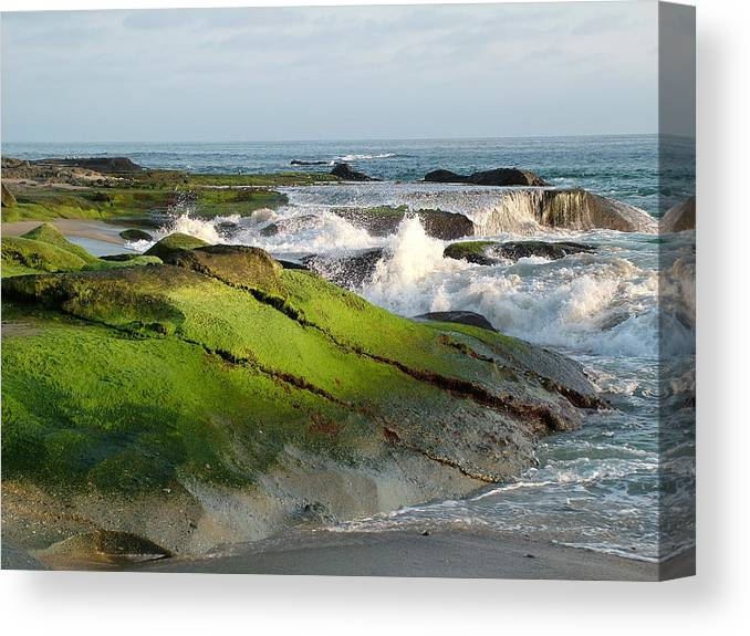 Ocean Canvas Print featuring the photograph Peaceful Serenity by John Loyd Rushing