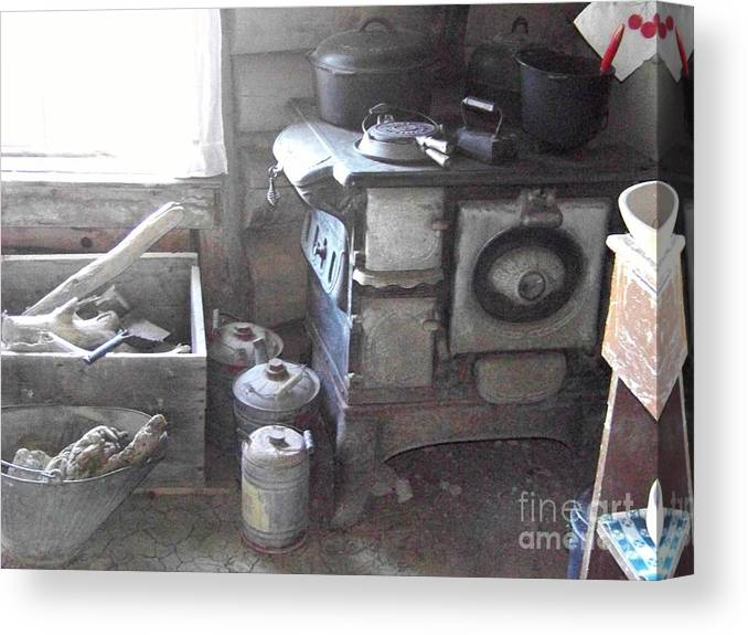 Kitchen Canvas Print featuring the photograph Pioneer Kitchen by Charles Robinson