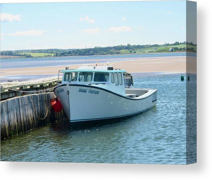Boat Canvas Print featuring the photograph Point Of View by Stephanie Moore