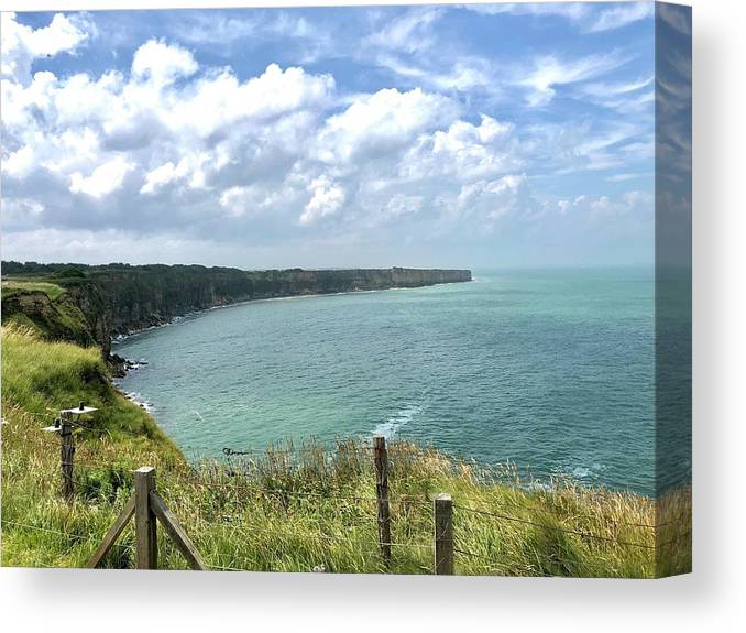 D-day Canvas Print featuring the photograph Pointe Du Hoc by Charles Kraus