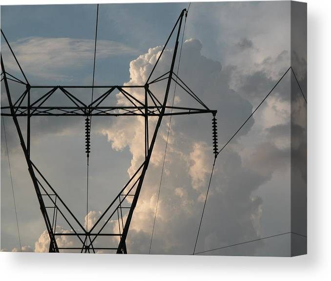 Enviroment Canvas Print featuring the photograph Power by Michael Morrison