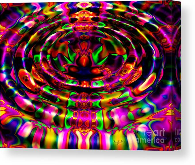 Ripple Canvas Print featuring the digital art Rainbow River by Robert Orinski