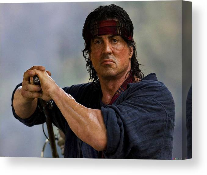 Rambo Sylvester Stallone Canvas Print