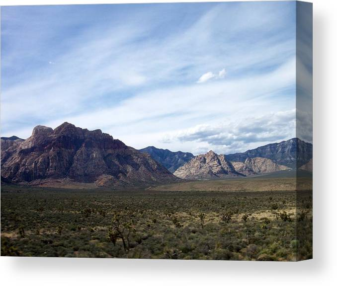 Red Rock Canyon Canvas Print featuring the photograph Red Rock Canyon 4 by Anita Burgermeister