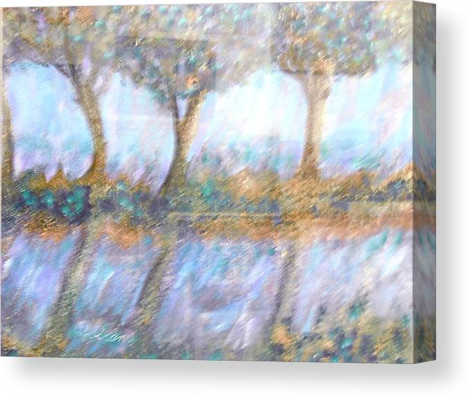 Abstract Canvas Print featuring the painting Reflections by BJ Abrams