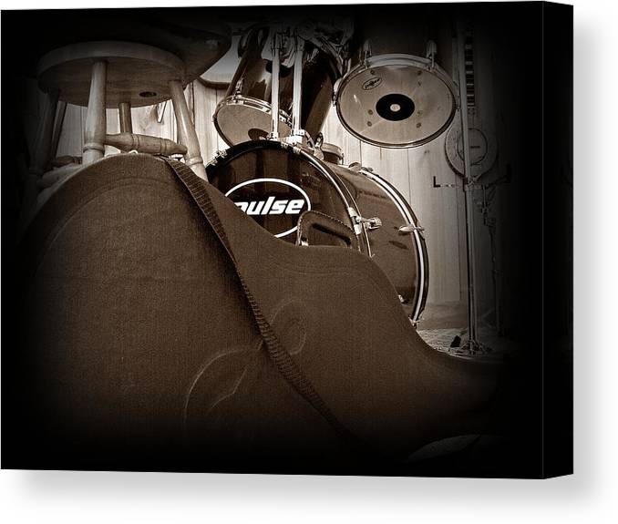 Guitar Canvas Print featuring the photograph Rehearsal Time by Steve Cochran