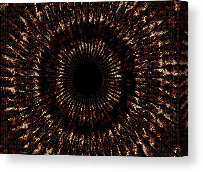 Fire Canvas Print featuring the digital art Rings Of Fire by Charleen Treasures